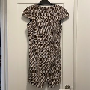 ASOS Black White Crepe Dress